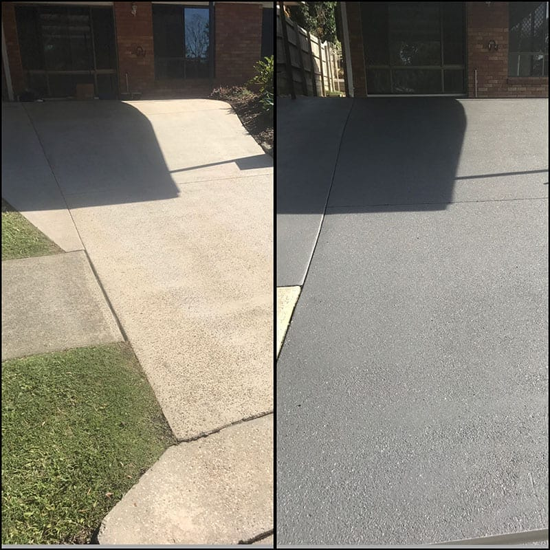 Driveway Clean And Applied Coloured Sealer