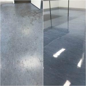 Vinyle floor cleaning